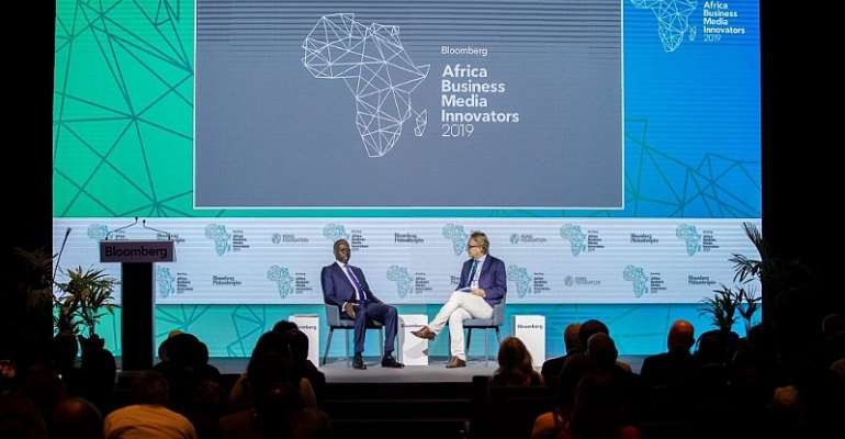 Justin B. Smith, CEO, Bloomberg Media Group and Mahammed Boun Abdallah Dionne, Minister of State and Secretary General of the Presidency of the Republic of Senegal