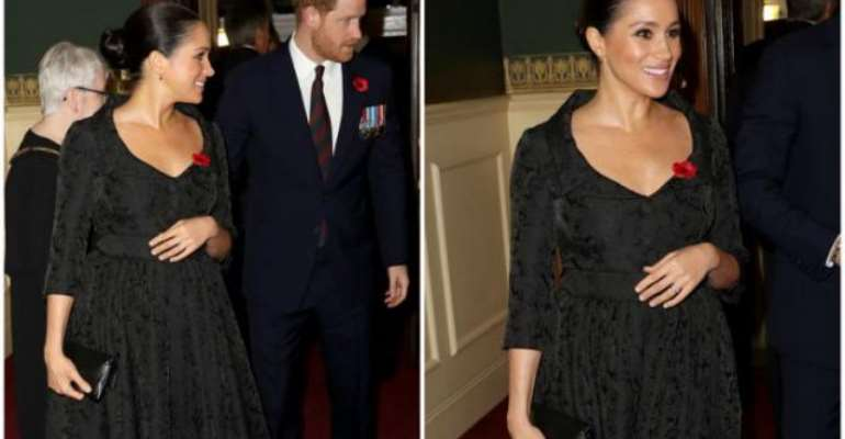 Meghan's strategically placed hand caused a lot of talk