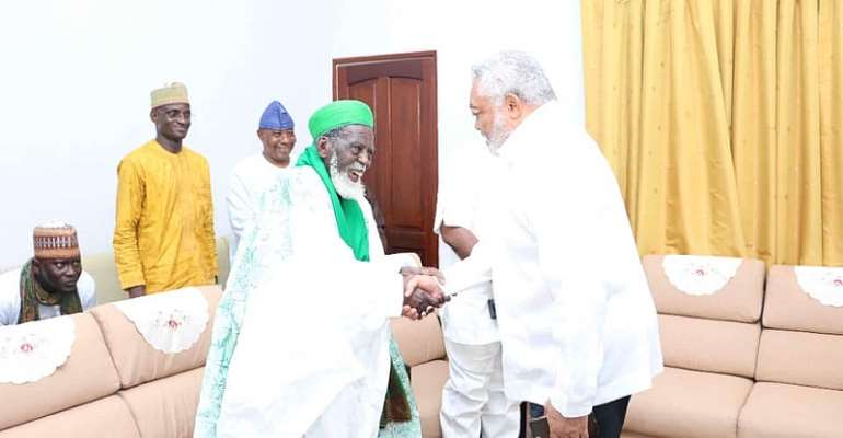 National Chief Imam Pays Tribute To Rawlings