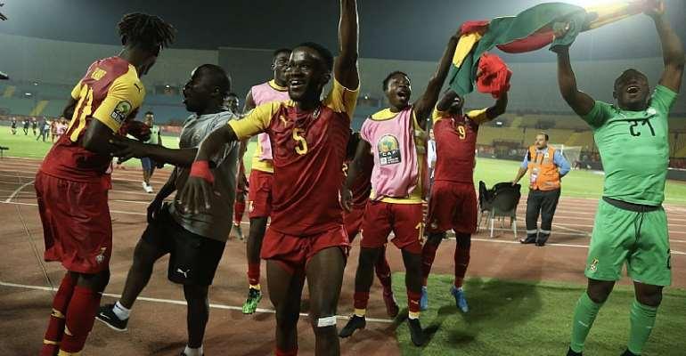 CAF U-23 AFCON: Watch Black Meteors Celebration After Semi Finals Qualification [VIDEO]