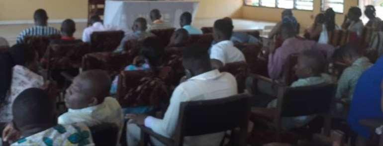 Civil servants at the consultative meeting in Sogakope, Volta Region
