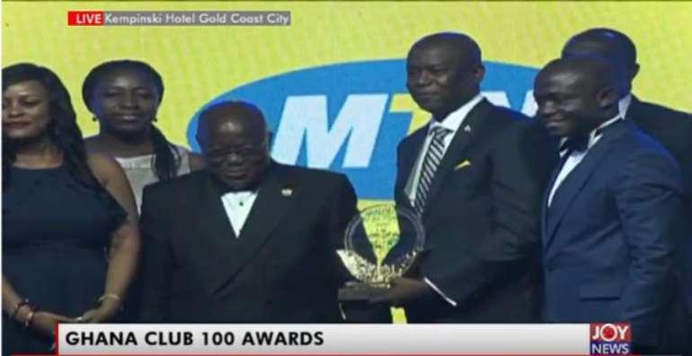 Ghana Club 100 Awards: MTN Ghana is No 1