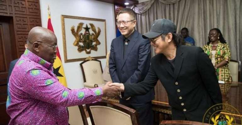 Photos: Ban Ki-Moon and Jack Ma visit Akufo-Addo