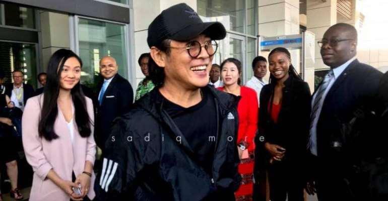 Jet Li And China's Alibaba Chairman Jack Ma In Ghana