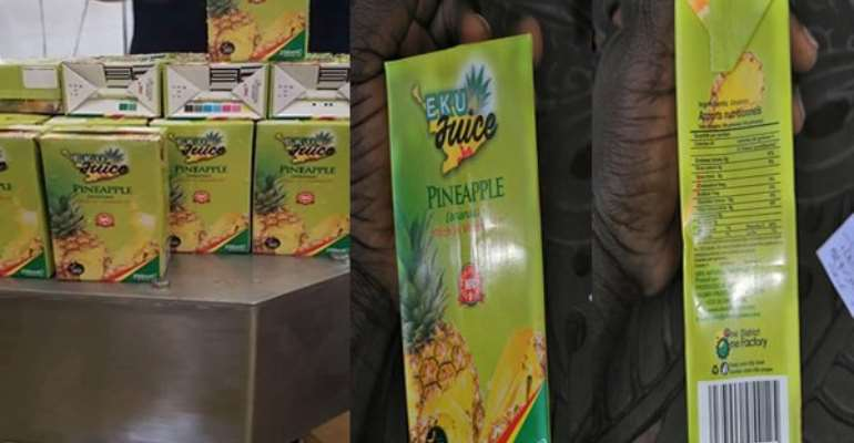 1D1F: Pineapple juice from Ekumfi factory now on sale
