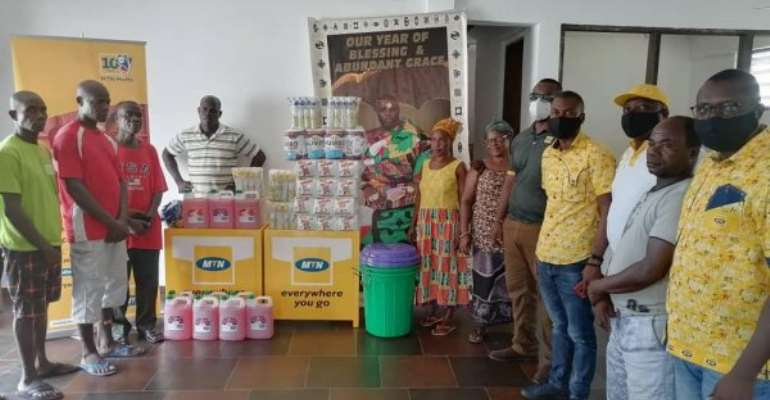 Covid-19: MTN Supports Sanzule Traditional Council With PPE