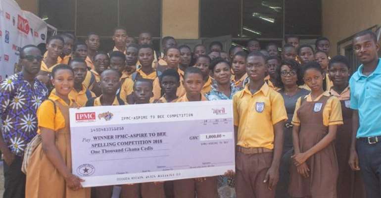 Pantang Hospital JHS pupil wins Aspire to Bee spelling competition