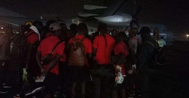 Black Stars Safely Return To Ghana After Beating São Tomé In AFCON Qualifier