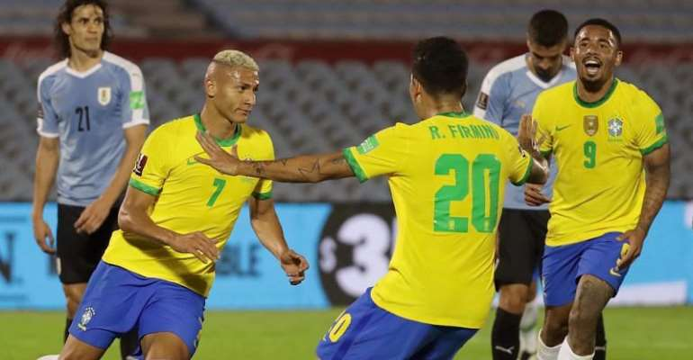 Brazil beat Uruguay to stay top of qualifying group_china