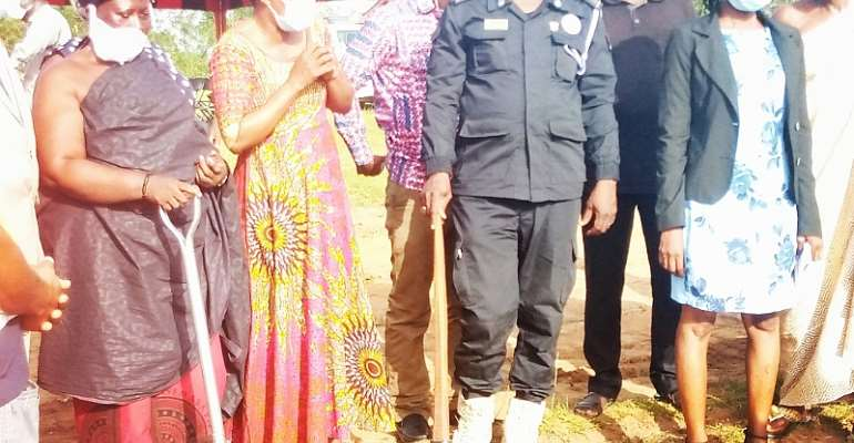 Obuasi East: MP Cuts Sod To Pave Way For Police Office Complex