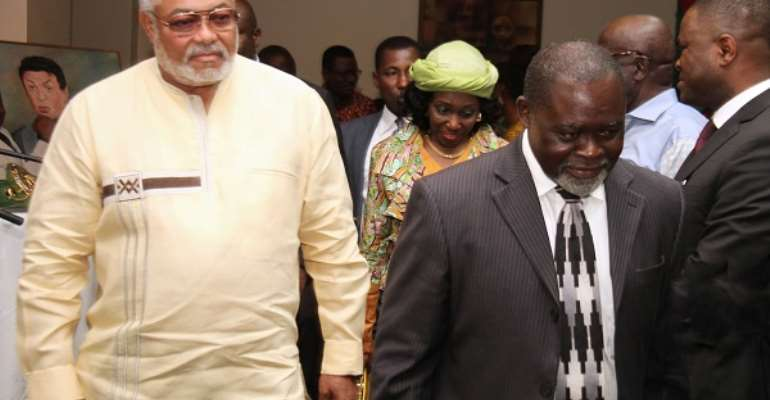 The late Jerry John Rawlings and Azumah Nelson