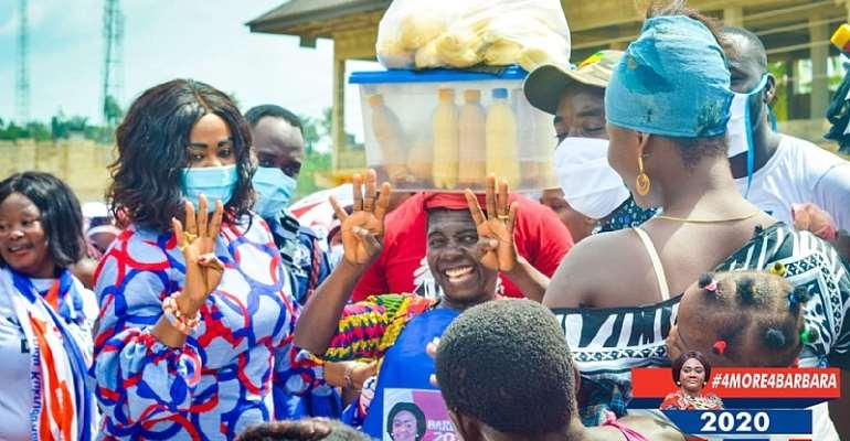 Election 2020: Bogoso Market Women Rallies Support For Barbara Oteng-Gyasi To Retain Seat