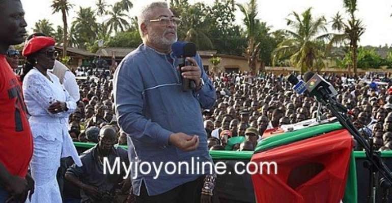 Former President Jerry John Rawlings on Sunday addressed thousands of cadres in Ho, the capital of the Volta Region, to mark the 36th Anniversary of the 31st December 1981 revolution.