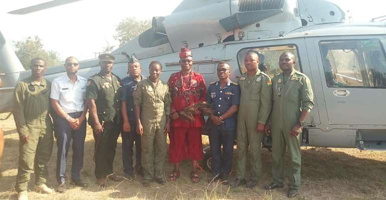 Soldiers Land In Fodome Helu To Pay Homage To New Gbedegbleme Of Fodome