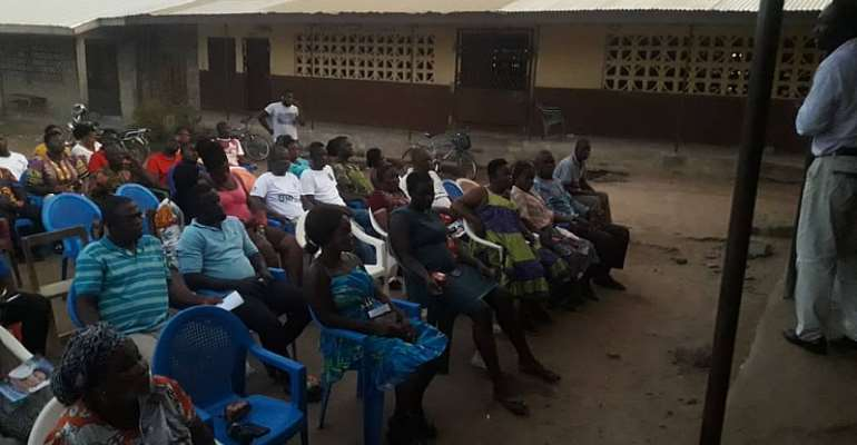 NPP Amasaman Constituency Executives Sensitises Public On Referendum