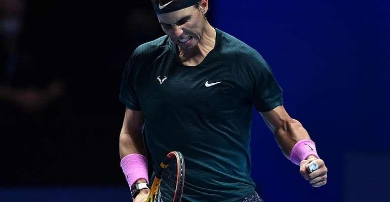 Nadal downs defending champion Tsitsipas to reach semi-final at ATP Finals