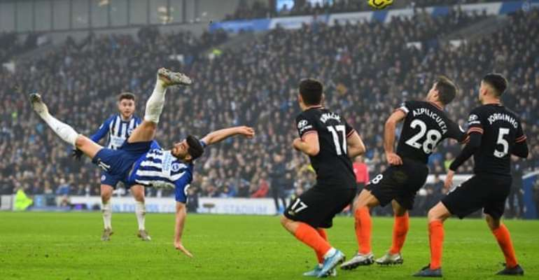 PL: Jahanbakhsh Stunner Helps Brighton Hold Chelsea To 1-1 Draw