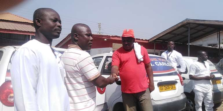 Tema West MP Gives 10 Cars To Drivers