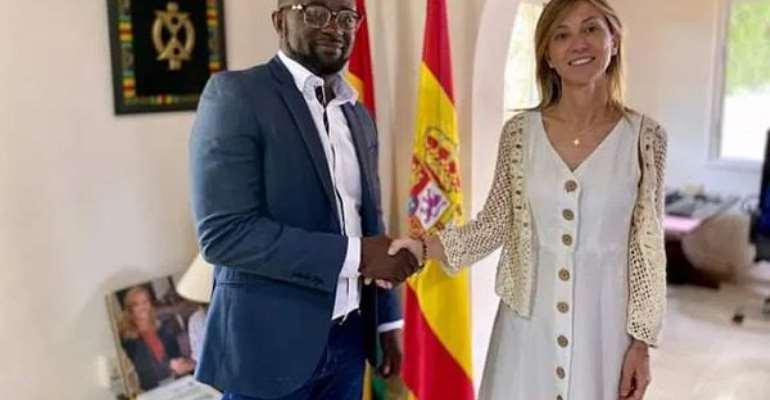 Spanish Ambassador Pledges To Support GFA President And Ghana football