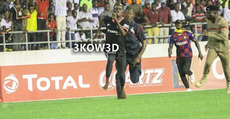 Black Stars, South Africa Pitch Invader Fined Ghc2,400