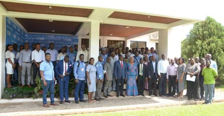 Group picture of participants after the opening ceremony