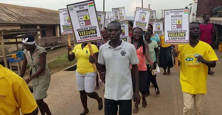 Referendum: Atiwa East NPP Launches 'Moseaso Votes Yellow' Campaign