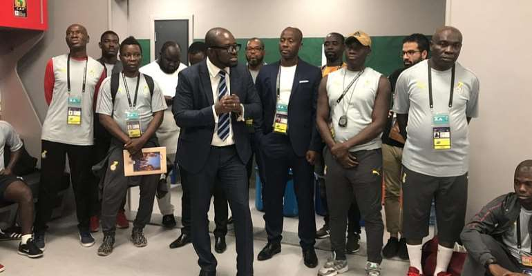 GFA Boss Kurt Okraku Joins Black Meteors For Morale Boosting Jama Session [VIDEO[