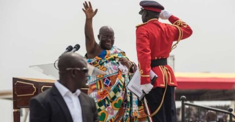 Mr Akufo-Addo succeeded in his third attempt to be elected president