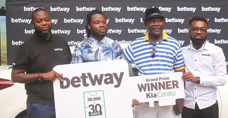 Betway Ghana Presents Brand New Kia Cerato To Promo Winner