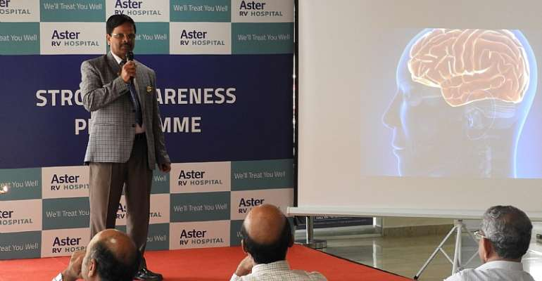 Aster RV Hospital Organized Health Awareness Talk On Preventing Stroke