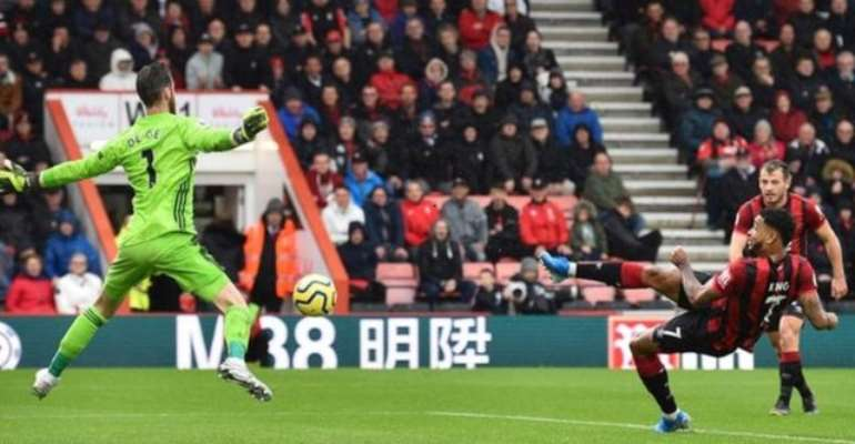 PL: King's Fine Strike For Bournemouth Ends Man Utd's Unbeaten Run