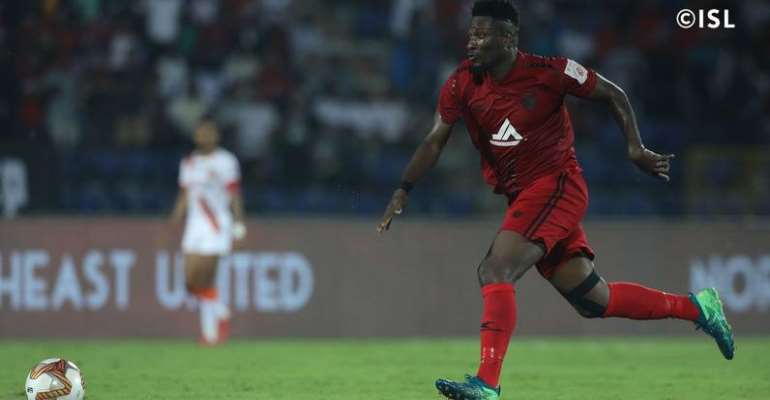 Asamoah Gyan Excited With His Second Home Goal For NorthEast United FC In India