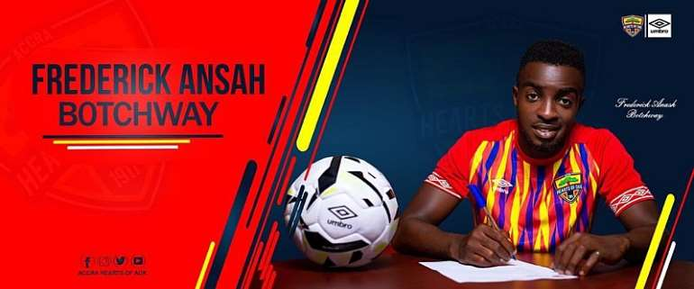 OFFICIAL: Hearts Of Oak Sign Midfielder Frederick Ansah Botchway