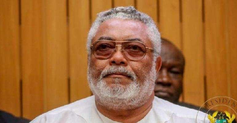 Later ex-Ghana President JJ Rawlings