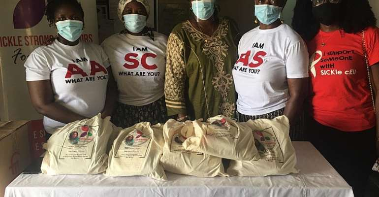 Sickle Cell Warrior Foundation gives to Korle Bu Hospital