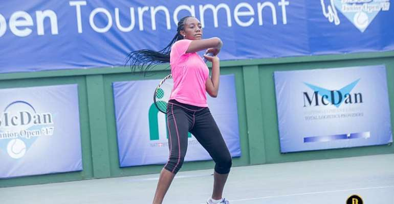 Tennis star Naa Mckorley donates to Teshie Children's Home