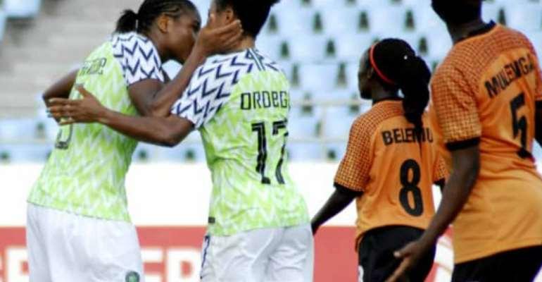 AWCON 2018: Nigeria Coach Rues Missed Chances Despite Thumping Zambia