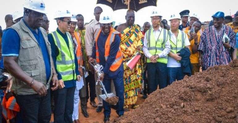 Bawumia Breaks Ground For 30km Sinohydro Cape Coast Inner City Roads