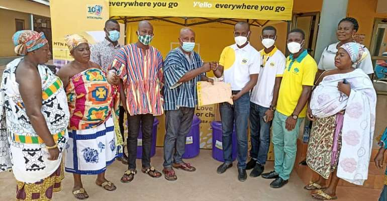 MTN Supports Techiman Traditional Council To Fight COVID-19