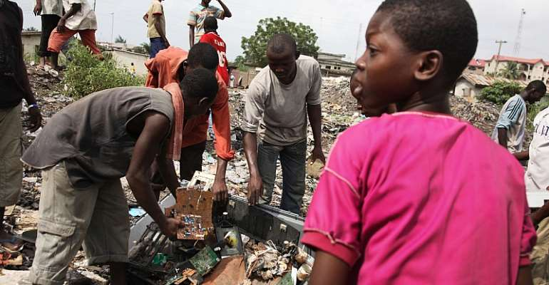 The informal sector plays a big role in waste management in Nigeria. - Source: GettyImages