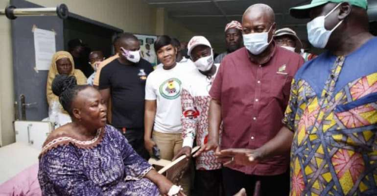 Ejura: Mahama Pays Medical Bills Of Injured NDC Supporters