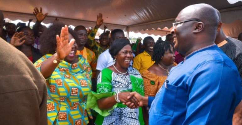 Little Edna Sparks Nyinahin As Bawumia Cuts Sod For Sinohydro Projects In Atwima Mponua