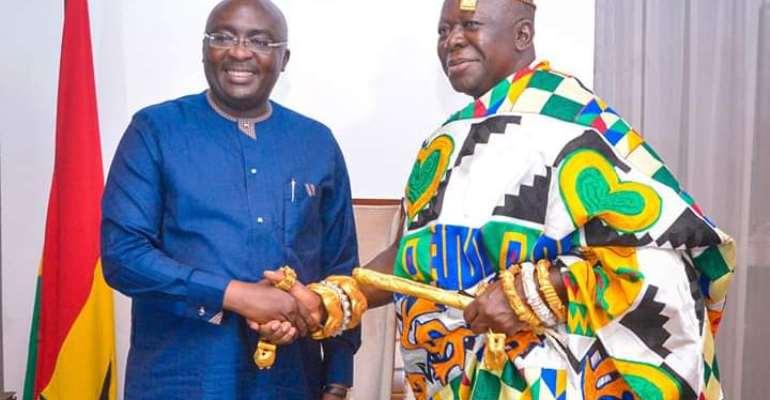 Vice President Dr. Mahamudu Bawumia and Otumfuo Osei Tutu II