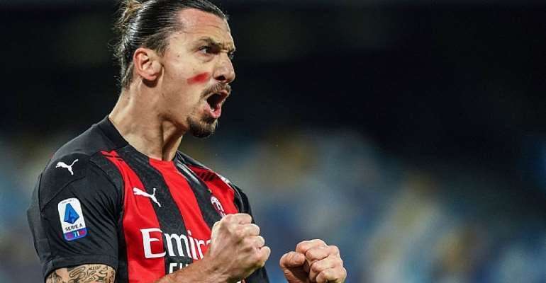 Ibrahimovic brace ends decade-long wait for AC Milan win at Napoli