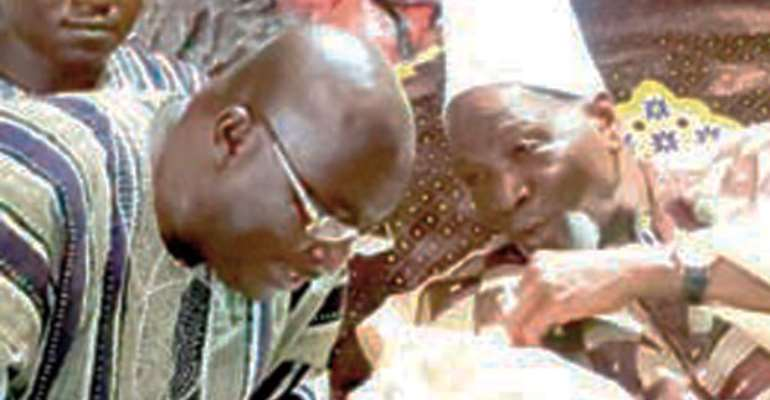 Dr. Bawumia conferring with Ya Na Abukari Mahama