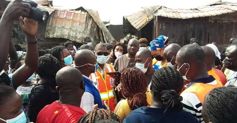 MASLOC To Support Victims Of Odawna Market Fire Outbreak