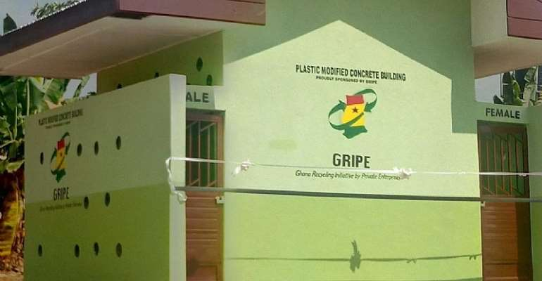 GRIPE donates sanitation facility to Domeabra M/A JHS