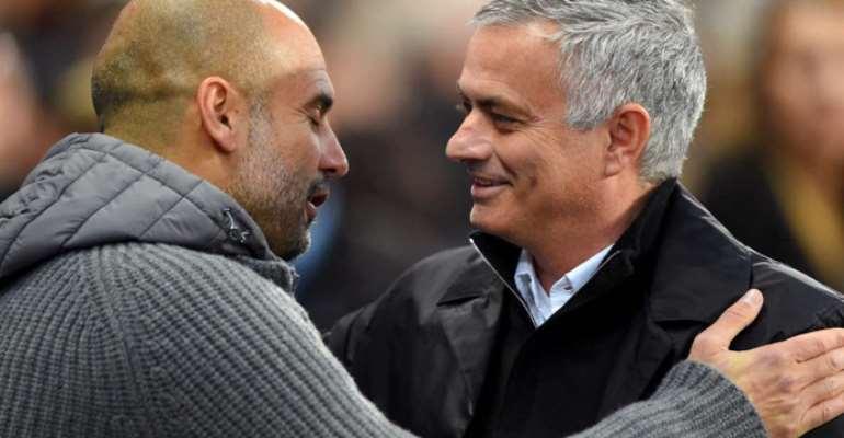 Pep Guardiola (Left) And Jose Mourinho (Right)