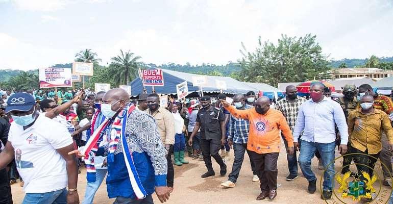 Akufo-Addo Tours Accra Today