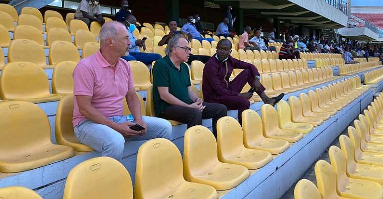 CK Akonnor And GFA Technical Director At Accra Sports Stadium To Watch Hearts of Oak, Ashgold Tie [Photos]